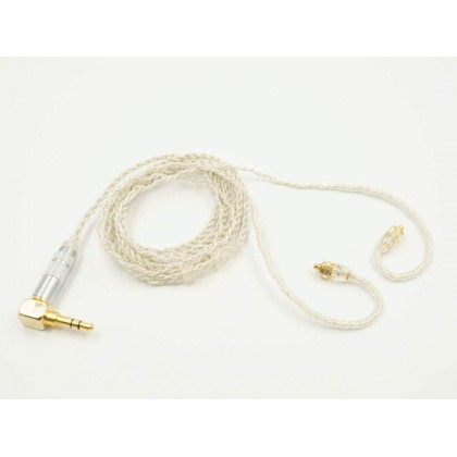 MMCX 4 Core Earphone Upgrade Cable - Silver Foil Silver-Plated
