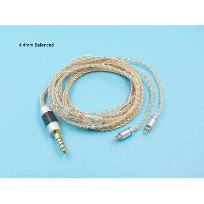 2-Pin 0.78mm Copper Mixed Silver-plated Upgrade Cable