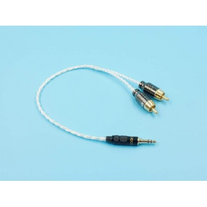 3.5mm to Dual RCA Pure Silver Cable