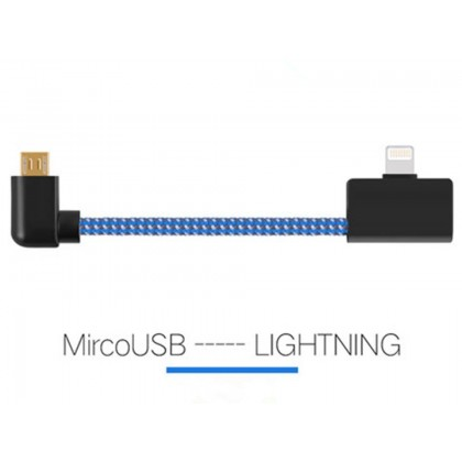 Blue Micro USB to Lightning Cable -