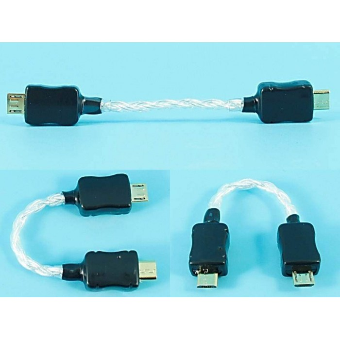 Micro Usb To Micro Usb Pure Silver Otg Cable