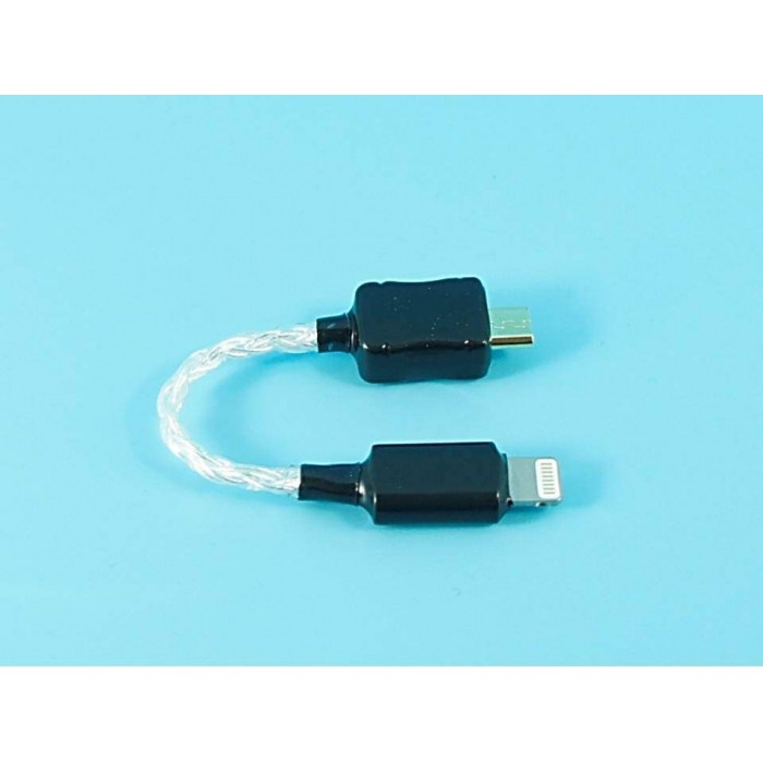 Lightning To Micro Usb Pure Silver Cable For Cozoy Shozy
