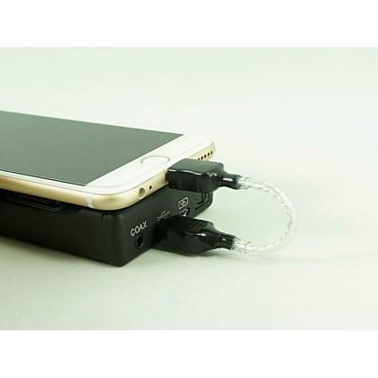 Lightning to Micro USB Pure Silver Decoding Cable for Mojo/Hugo - for Mojo/Hugo/PHA